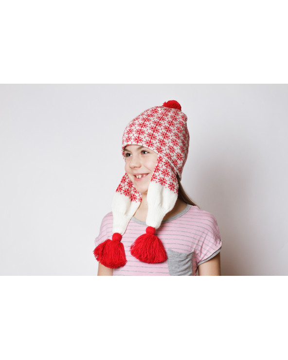 Vaikiška pusvilnonė dviguba kepurė 484