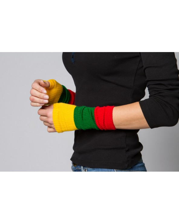 Wrist gloves with national Lithuanian colors 237