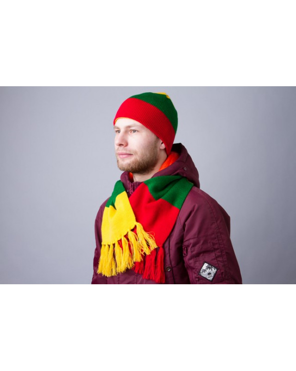 Striped scarf with national Lithuanian colors 838