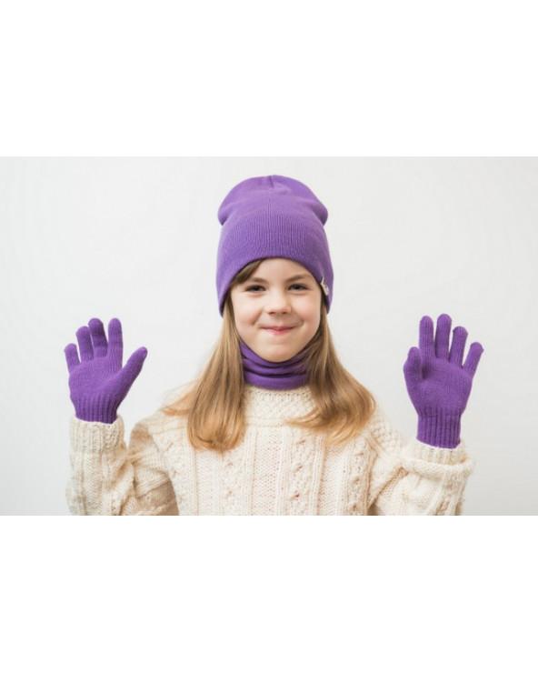 Pusvilnonės viengubos vaikiškos pirštinės 369