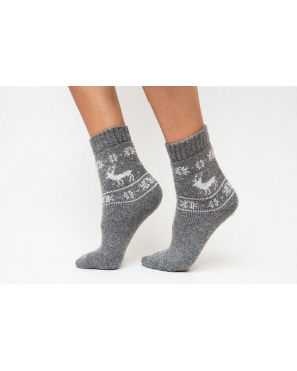 Woolen patterned socks 805