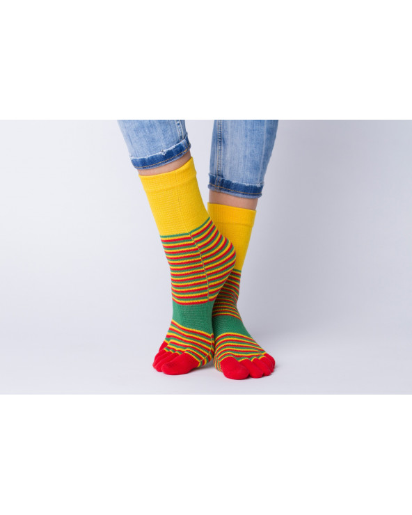 Combed cotton striped socks