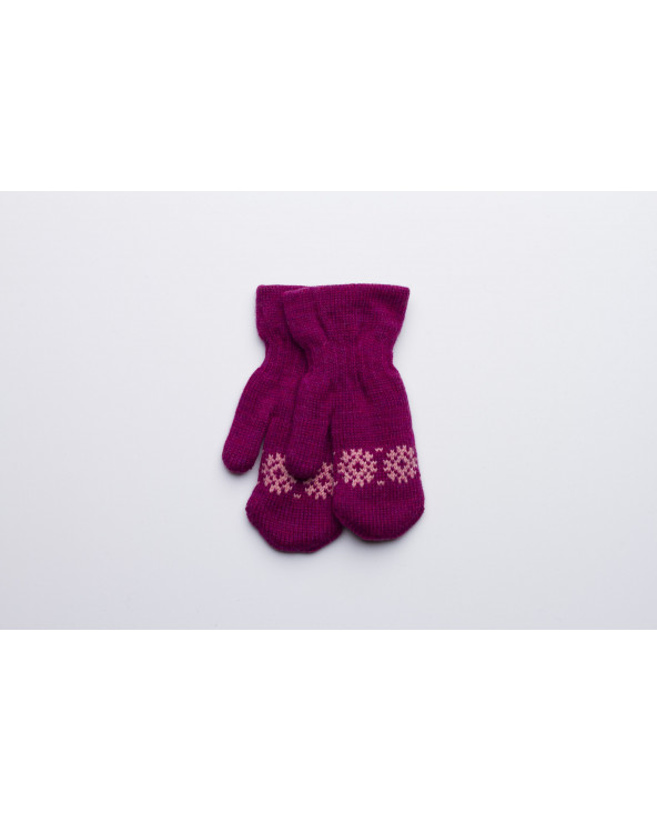100% Wool double mittens for kids 543