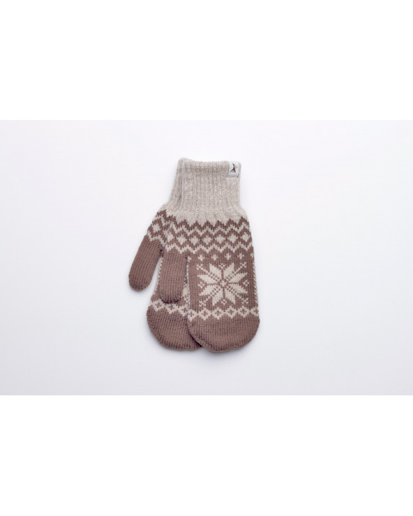 100% Wool double mittens 621