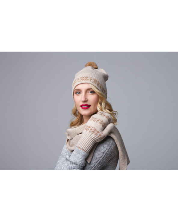 Woolen double hat
