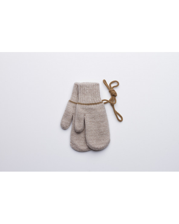 100% Wool double mittens for kids 435