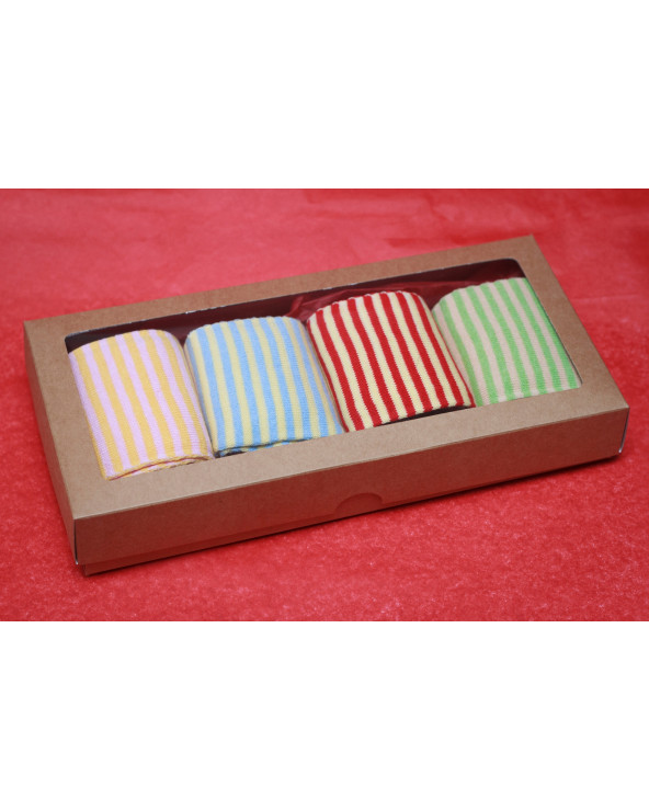 4 pairs cotton toe socks knee high 005