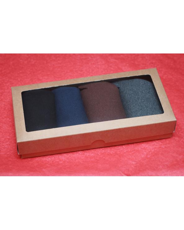 Šventiškai supakuotos 4 poros medvilninių vyriškų pirštuotų kojinių 985