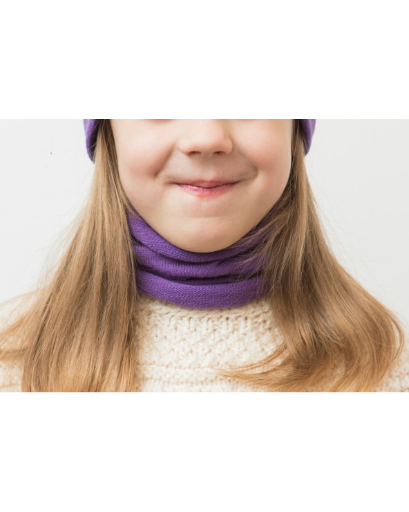 Semi - wool snood for kids 376