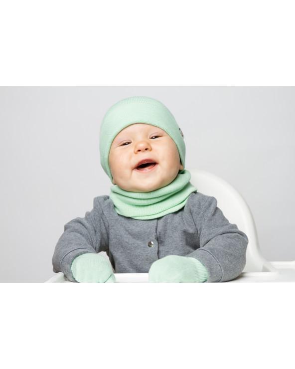 Vaikiška šukuotinės medvilnės kepurė 789