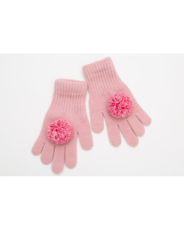 Semi wool gloves with pompoms 021