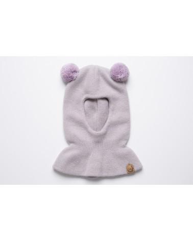 Vaikiška kašmyro vilnos kepurė - kaukė 316K