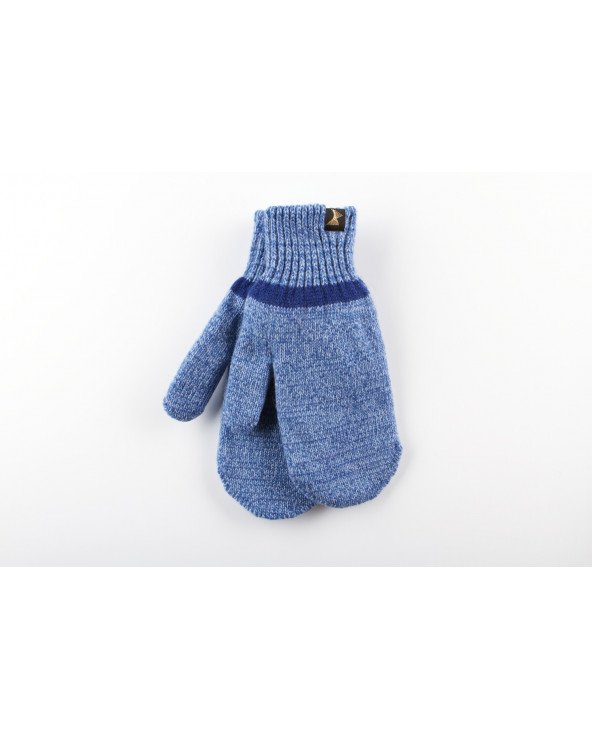 100% Wool double mittens 062