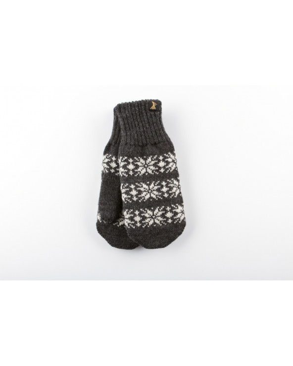 100% Wool double mittens 522
