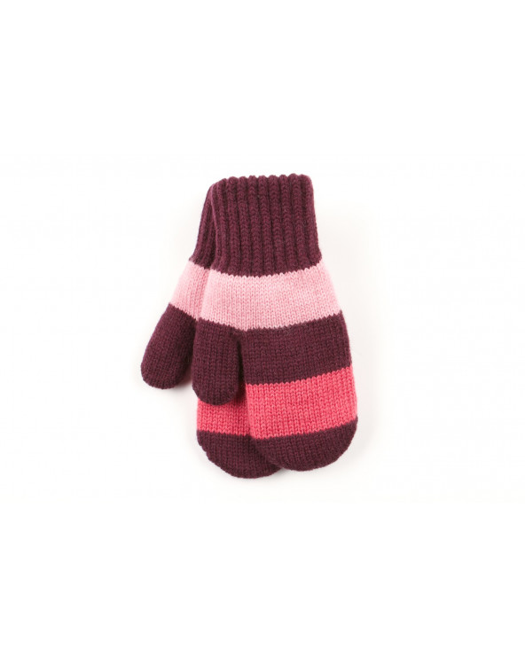 100% Wool double mittens with cotton lining for kids 973