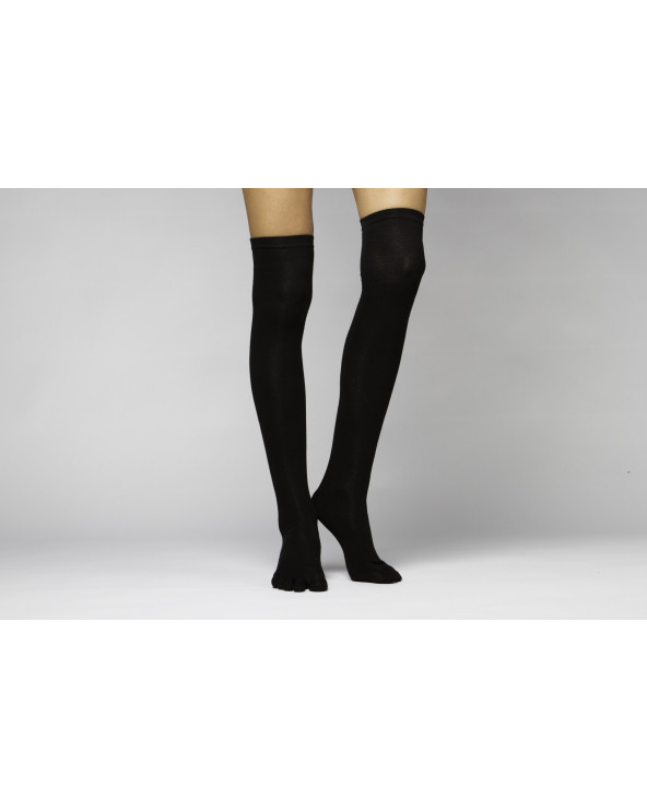 Combed cotton toe socks over the knee (thin) 176