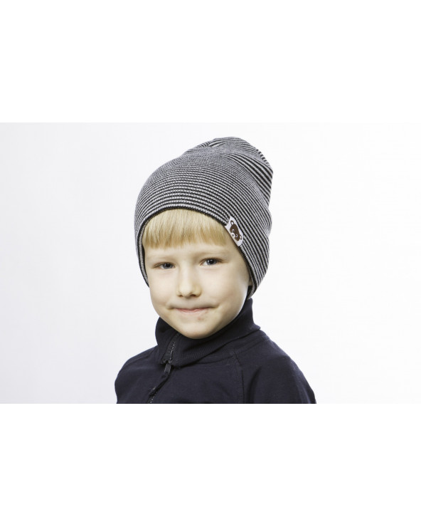 Vaikiška pusvilnonė dviguba kepurė 180