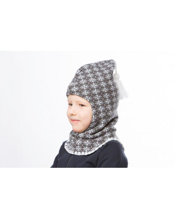 Vaikiška pusvilnonė dviguba kepurė-kaukė 545