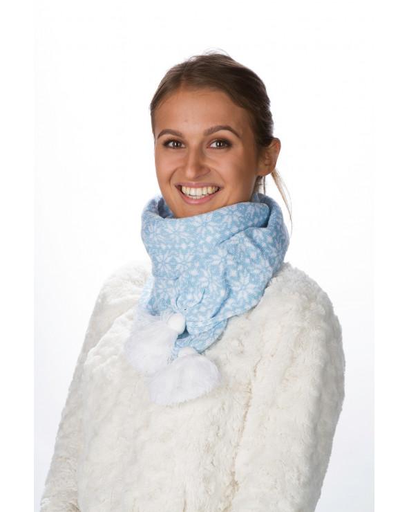 Fringed semi - wool scarf 548