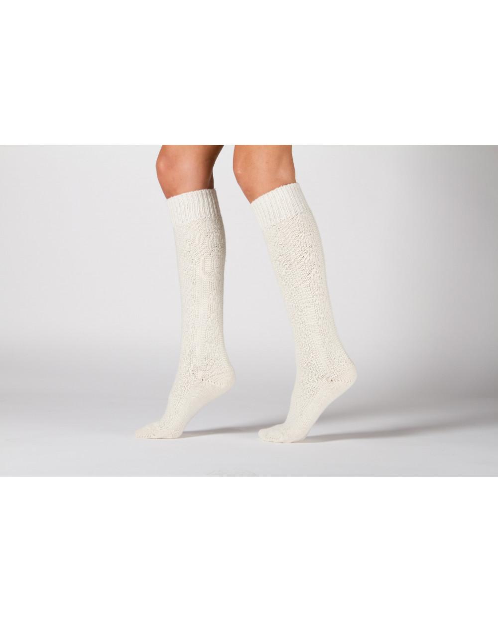 100% vilnonės ilgos raštuotos kojinės 178