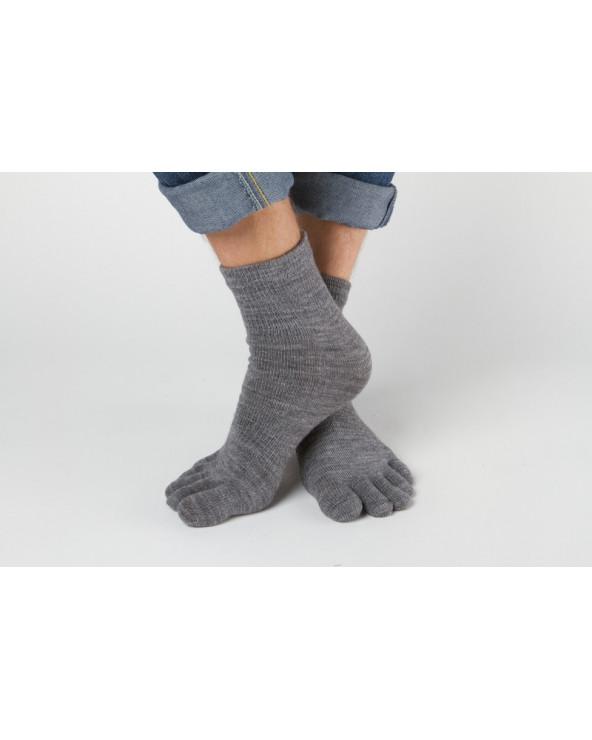 Semi - wool toe socks 319