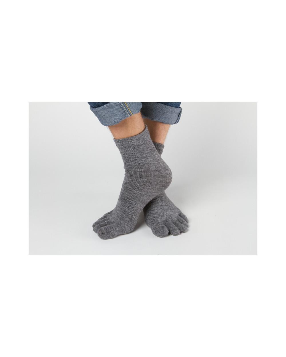Pusvilnonės pirštuotos kojinės 319