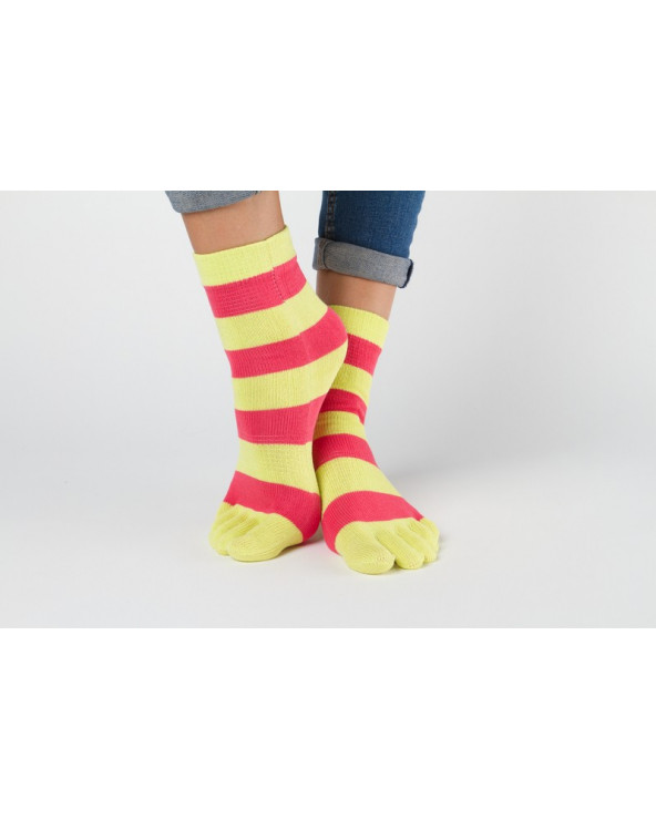 Striped toe socks 800