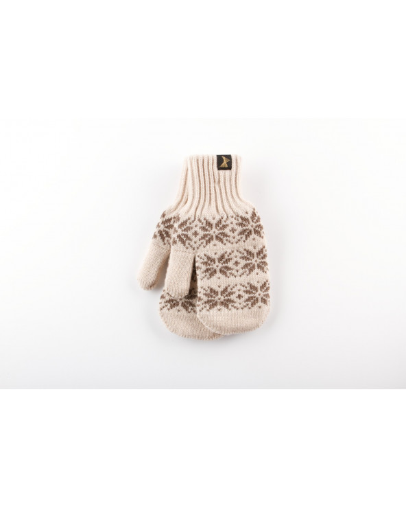 100% Wool double mittens 017