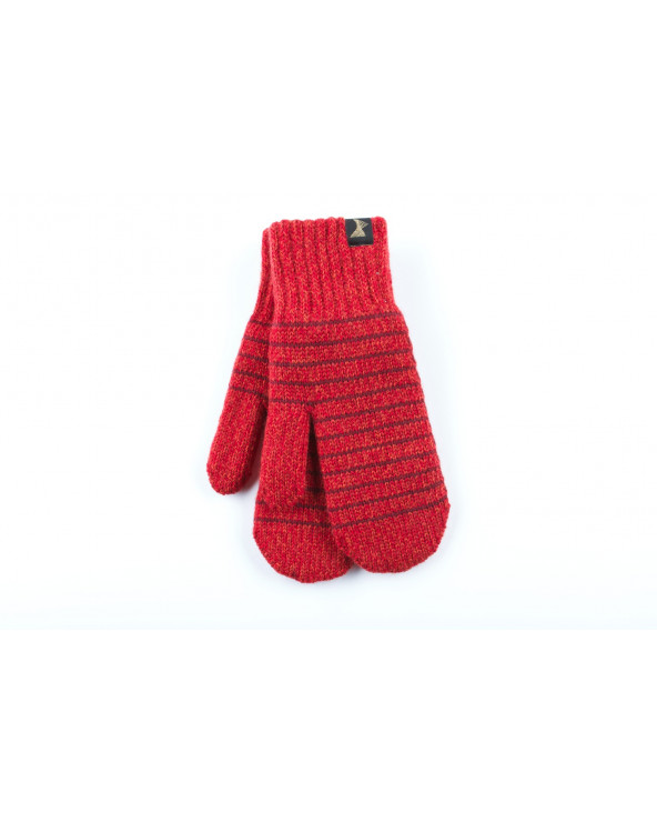 100% Wool double mittens with cotton lining 055