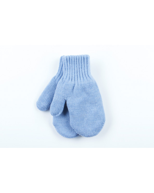 100% Wool double mittens with cotton lining for kids 546