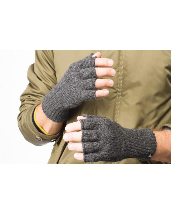 100% Wool fingerless gloves 713