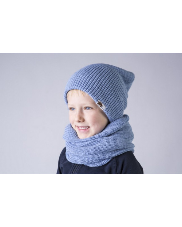 Semi - wool double hat for kids 192