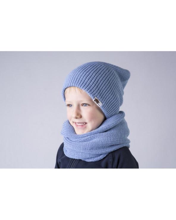 Vaikiška pusvilnonė dviguba kepurė 192