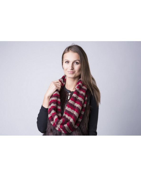 Semi - wool three colors scarf 345