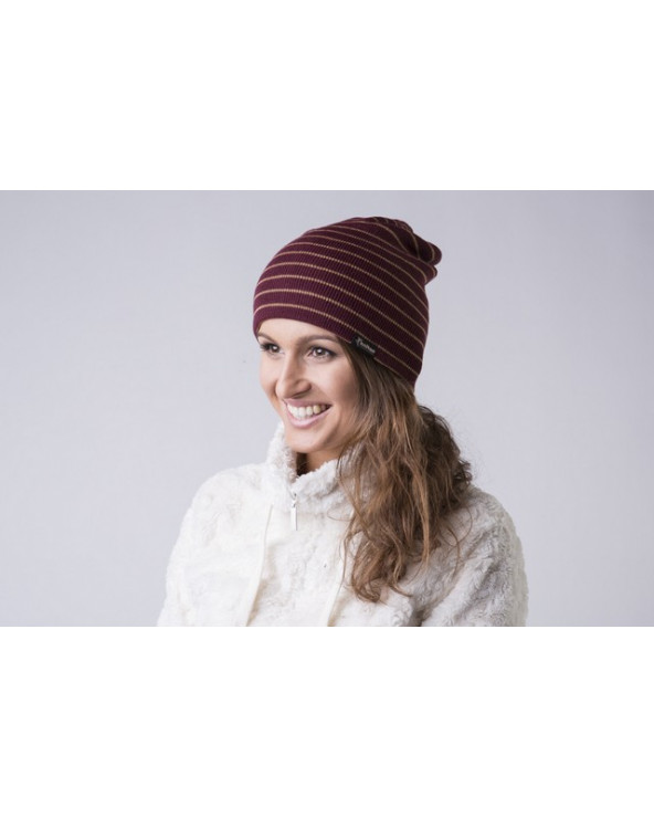 Pusvilnonė dryžuota dviguba kepurė  338