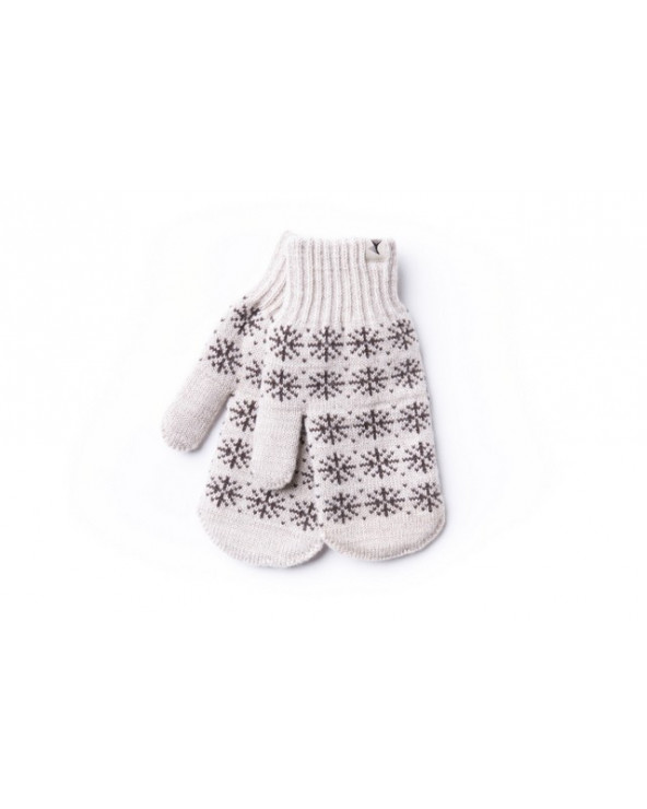 100% Wool double mittens 475